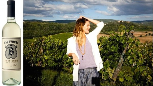 Shepard Fairey, Drew Barrymore team up for wine design